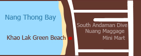 Khao Lak Green Beach Resort Map